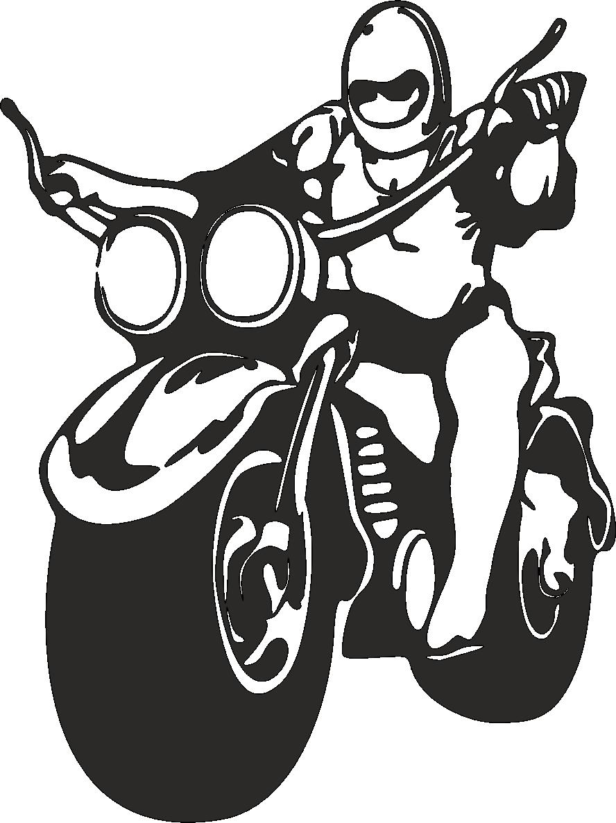 Aufkleber Biker