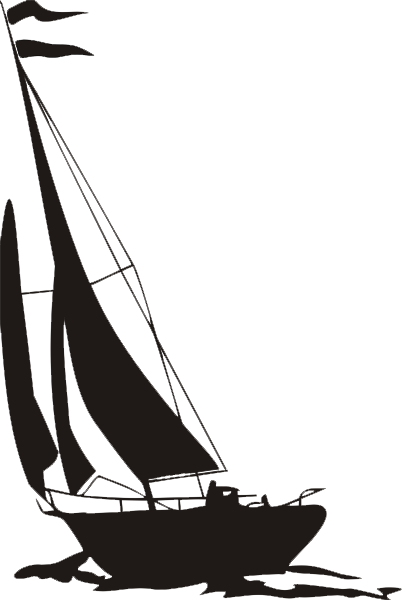 Segelschiff als Aufkleber
