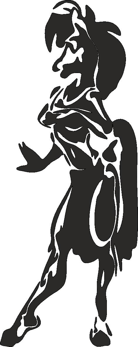 Aufkleber Wolfsfrau