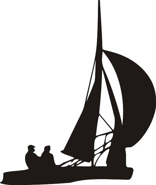 Segelboot als Aufkleber