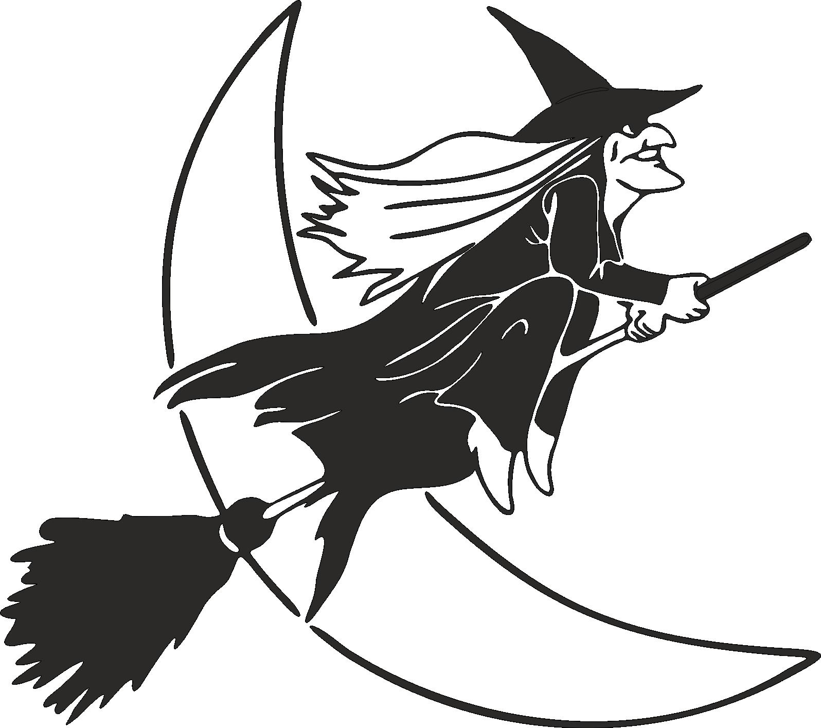 Aufkleber Hexe