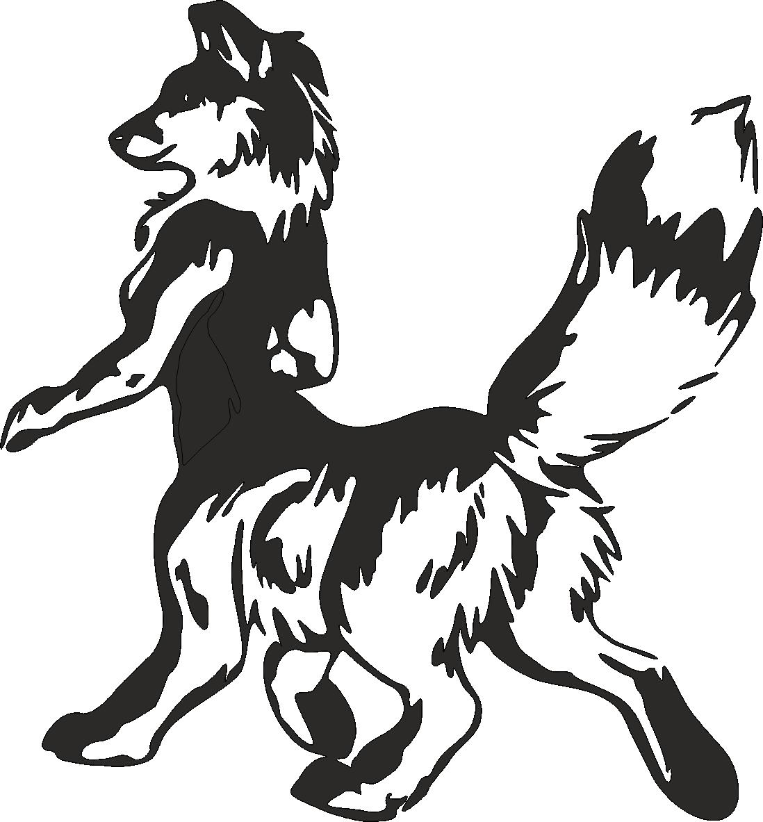 Aufkleber Fantasy Wolf